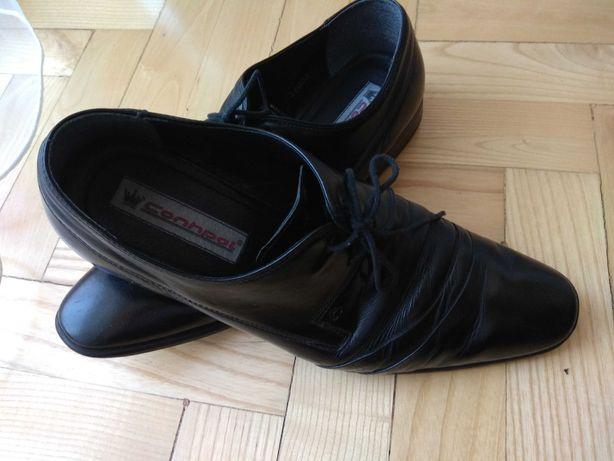 Buty czarne,męskie, skóra naturalna,firmy Conhpol