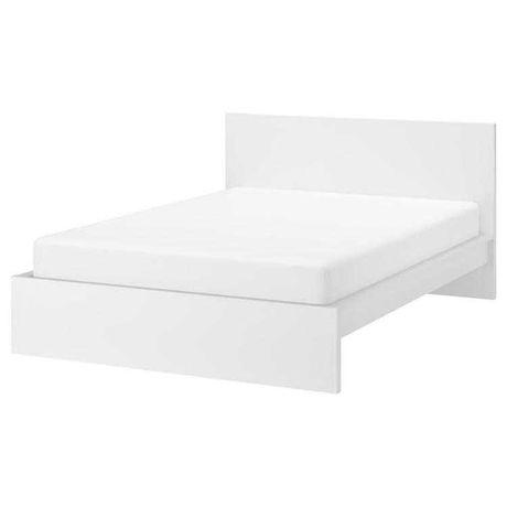 Łóżko Malm 160x200 z materacem hovag + dno łóżka Lönset