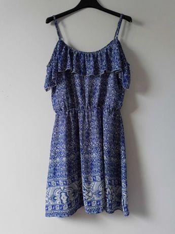 Niebieska sukienka hiszpanka Bik Bok S/M
