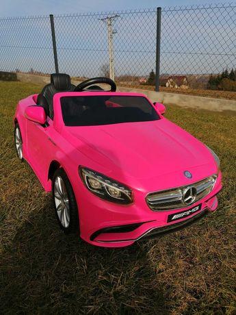 Samochód na akumulator Mercedes S63AMG różowy