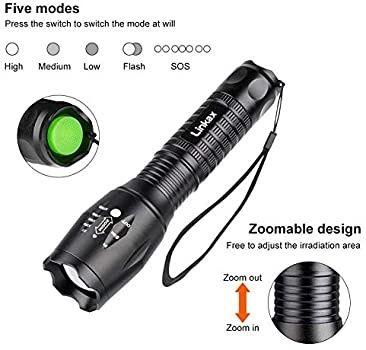 Nova! Lanterna de mão com tocha 800 LM Lanterna LED de 5 modos