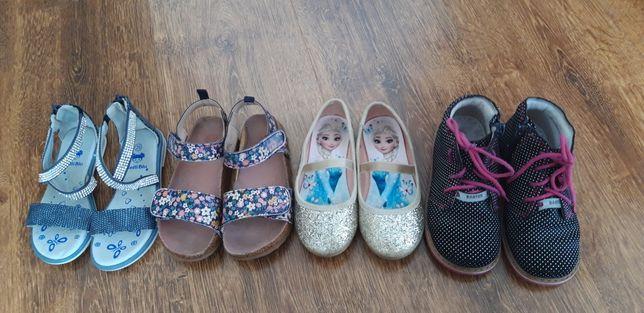 Zestaw butów buty buciki sandały trzewiki balerinki  hm Bartek  26 27