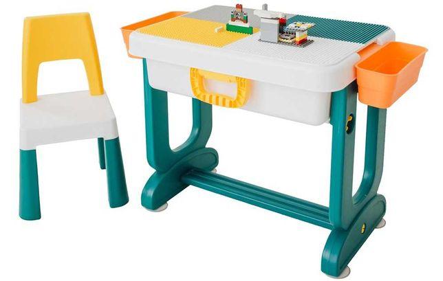 Дитячий столик і стульчик LAMOSA 6в1 з платформою для конструктора