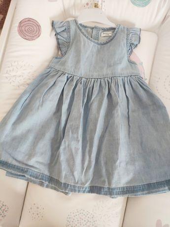 Sukienka dżinsowa Sinsay 74 wiosna lato
