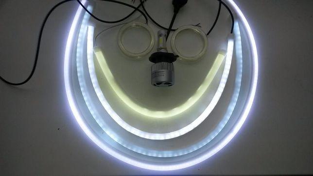 30 45 60 85 см Белые Гибкие ходовые огни ДХО DRL LED лед за пару