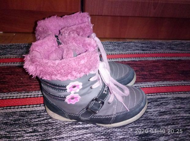 Зимние ботинки для девочки. размер 29.