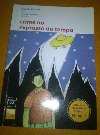 Livro Luísa Ducla Soares - Crime no expresso do tempo