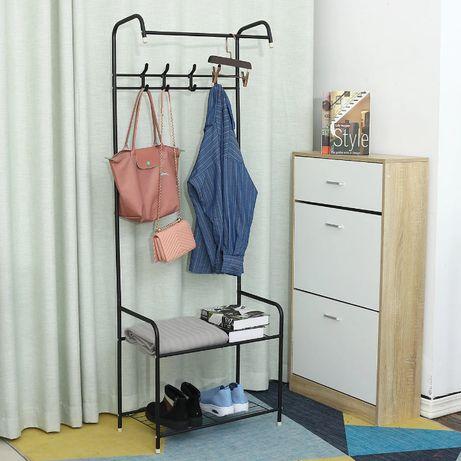 Вешалка для одежды напольная 3 в 1 . Шкаф, полка, тумба стойка
