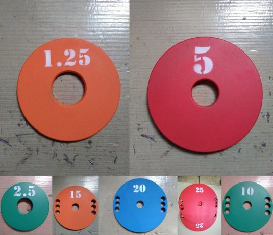 Блины металлические на олимпийский гриф . Диски 51 мм