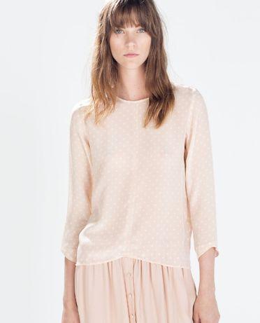 Nowa jedwabna bluzka Zara XS 100% jedwab