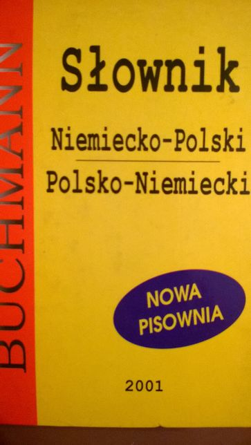 Słownik Niemiecko-Polski Polsko-Niemiecki Buchmann 2001