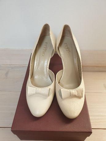 Buty Ryłko Estima ślubne białe kremowe rozmiar 39 38,5