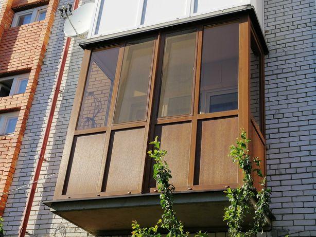 Балкон (заскління,обшивка сайдингом,вагонкою),французький