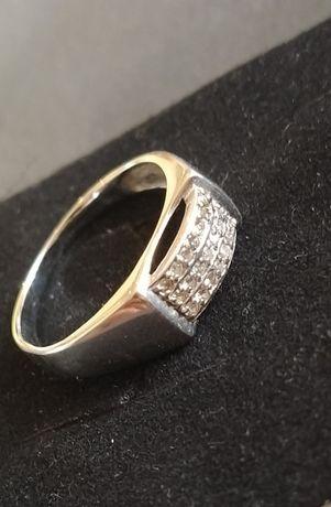 Кольцо с бриллиантами 0.21 карат