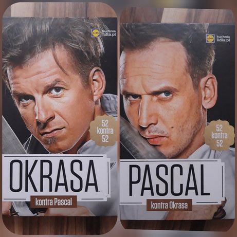 Ksiazka kulinarna kucharska  Pascal kontra Okrasa
