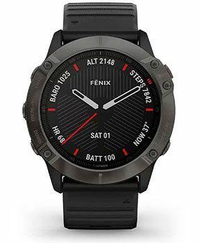Fenix 6 Sapphire сірий DLC з чорним ремінце