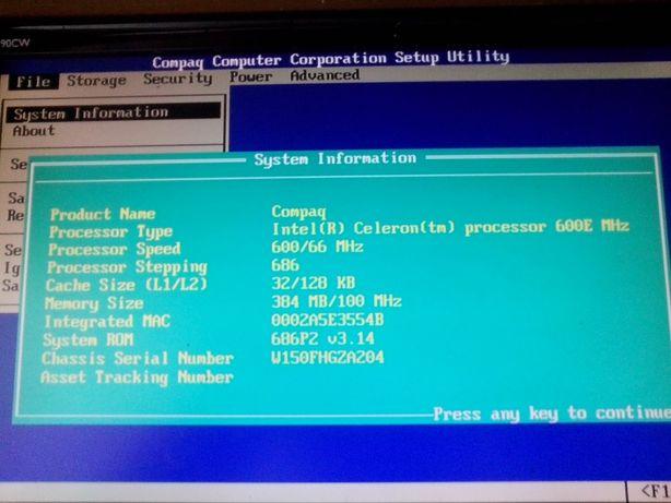 Kolekcjonerski komputer Compaq