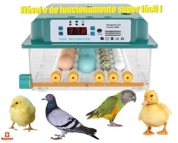 Incubadora/Chocadeira de 16 ovos de galinha - 36 ovos de codorniz