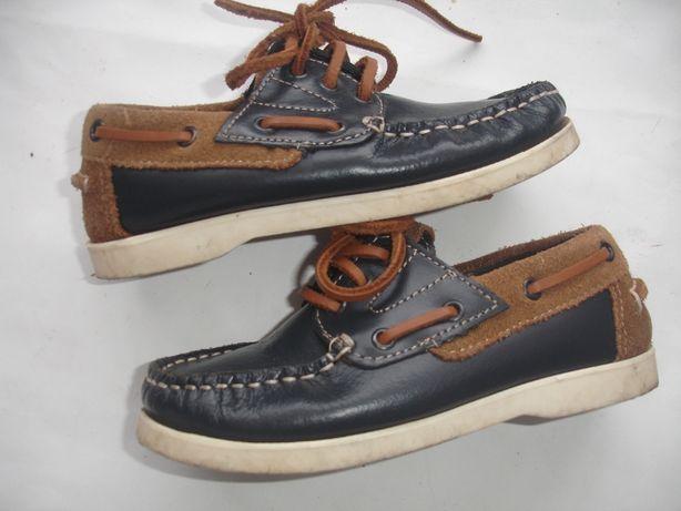 Фирменные кожаные туфли мокасины мальчику на 27-28 размер идеал