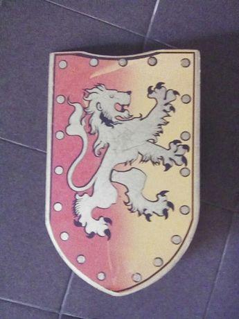 ESCUDO madeira medieval cavaleiro