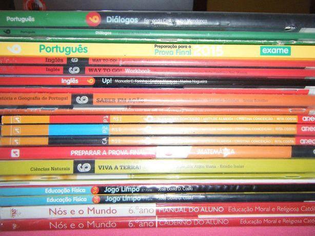 Livros Escolares 6º Ano (Conjunto 1)