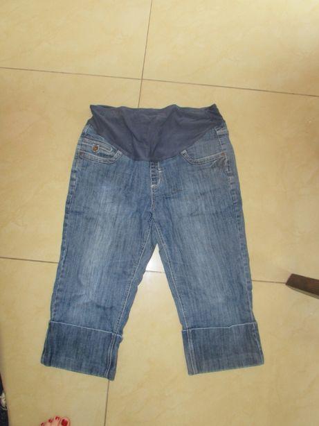 spodenki ciążowe rybaczki jeansowe NEXT UK 16 rozm 44