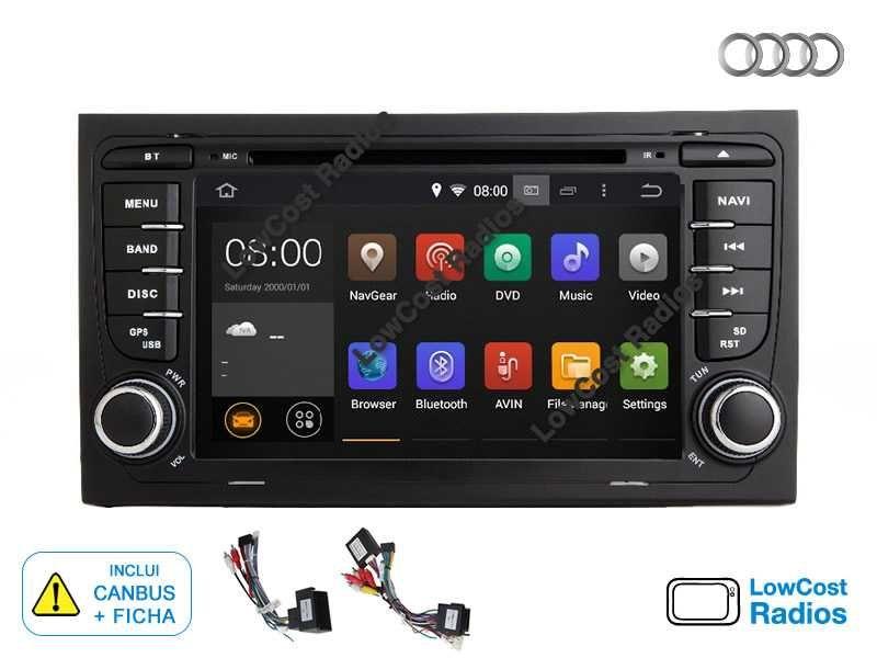 Auto Rádio GPS AUDI A4 (2002 a 2008) ANDROID 10 • USB • DVD • BT