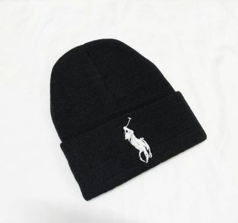 Czapka jesienno-zimowa czarna Ralph Lauren