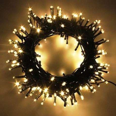 Lampki choinkowe 200 LED ciepły biały 21,6 m Grube Kable