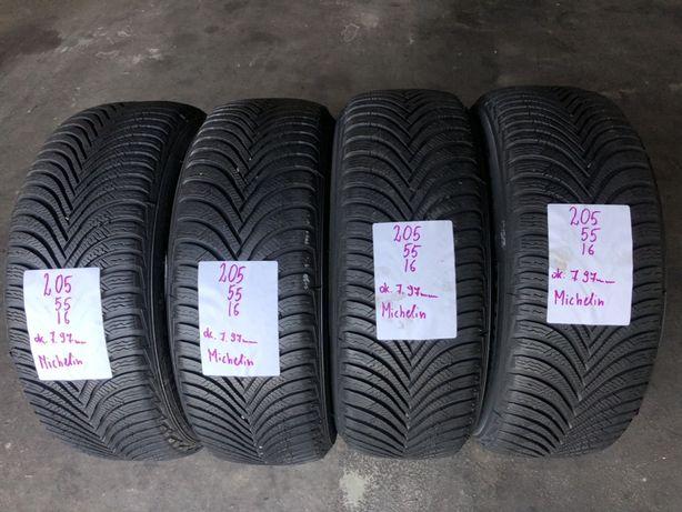 P.nowe opony zimowe Michelin 205/55/16. 7.98mm, 17rok, montaż /wysyłka