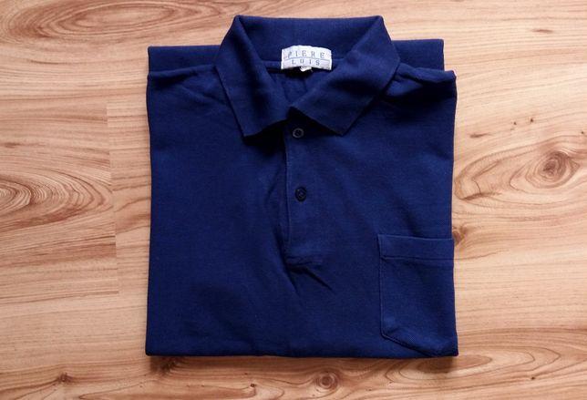 Koszulka Polo Męska Granatowa T-shirt Bawełniana 100% Bawełna