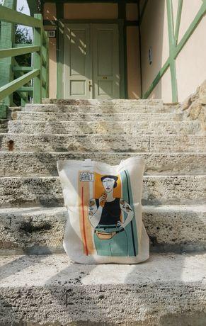 Новая эко сумка шоппер хлопковая сумка