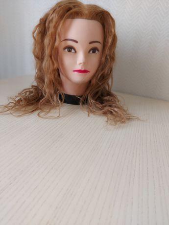 Манекен головы, тренажер для мастеров парикмахеров.