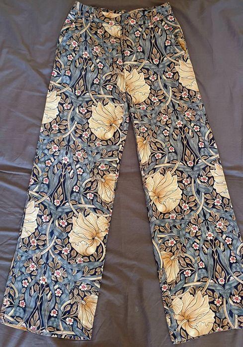 Spodnie boho floral H&M r. 34 stan idealny Rybnik - image 1