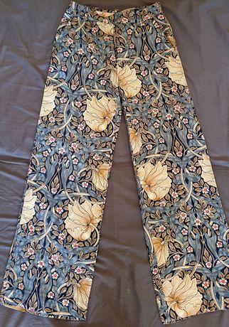 Spodnie boho floral H&M r. 34 stan idealny