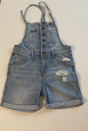 Spodenki Ogrodniczki jeansowe rozm.134