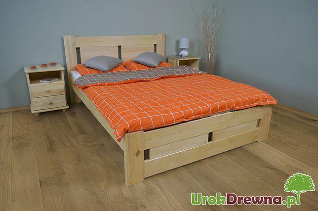 Nowoczesne łóżko do sypialni drewniane sosnowe NELA, Kolory, Wysyłka