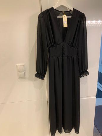 Sukienka maxi czarna rozm. uniwersalny S, M, L