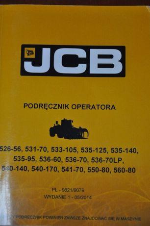 Instrukcja obsługi ładowarka teleskopowa JCB 531 535 DTR 536 540 inne