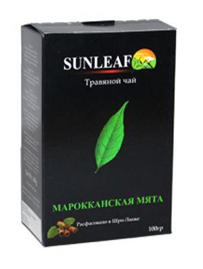 Травяной чай с марокканской мятой из Шри-Ланки от Sun Leaf, 100 грамм