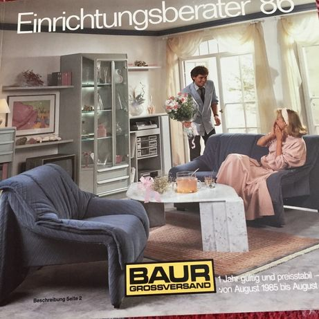 Немецкие каталоги мебели Баур BAUR 1986-1987 г - Германия
