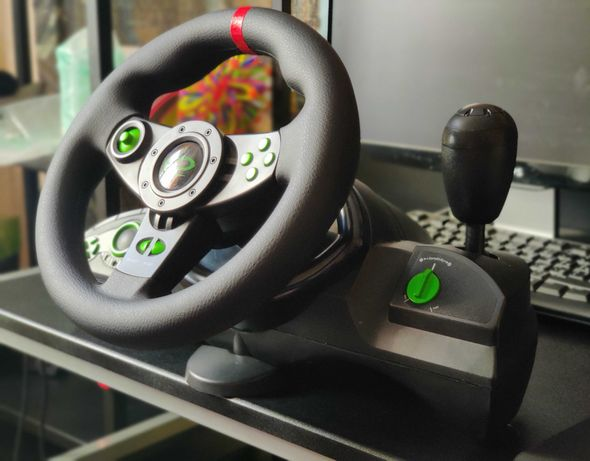 Проводной руль Esperanza USB PC/PS3 Black (EGW102)