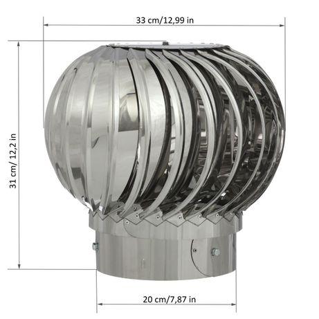 Турбодефлектор вентиляционный 200 из нержавеющей стали