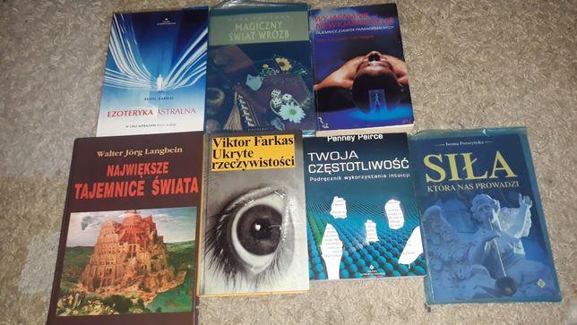 zestaw książek 7 sztuk o tematyce paranormalnej i sfery duchowej