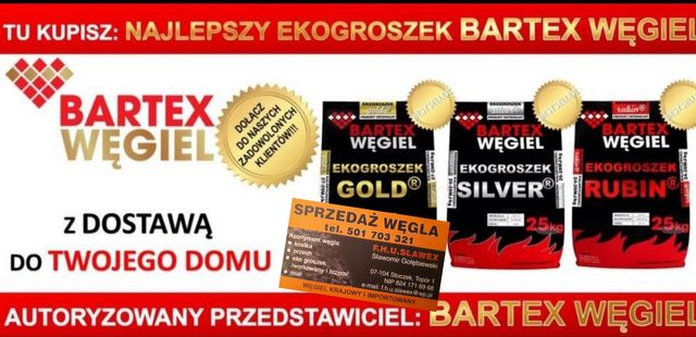 "Ekogroszek Bartex SILVER typu ""pieklorz"" transport GRATIS *"