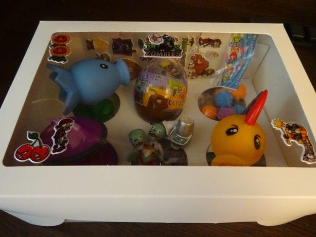 duży zestaw w pudełku strzelające figurki Plants vs Zombies + jajko