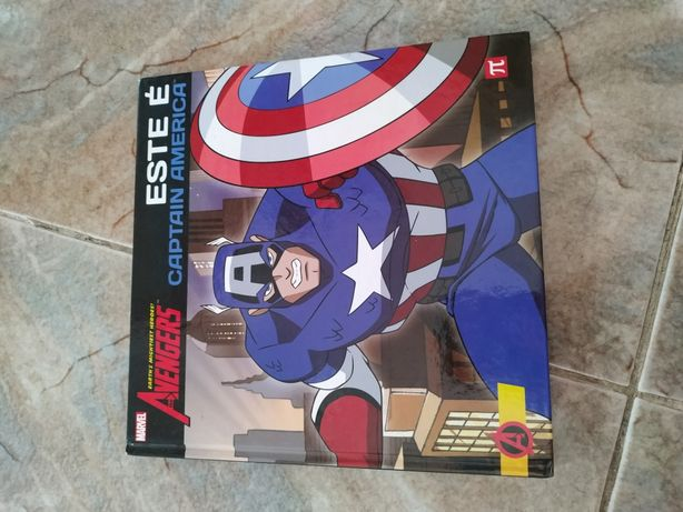 Livro capitão América Marvel