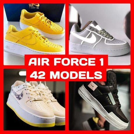 42 ЦВЕТА Nike Air FORCE 1 High Volt OFF WHITE Deluxe Shadow N 253