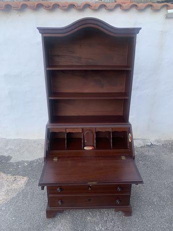 Móvel vintage, estante e escrivaninha