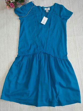 Яркое хлопковое платье 38/ m/46